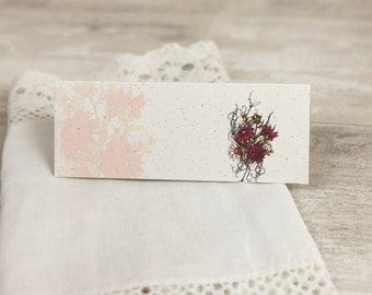 Botanical Red Flower Wedding Place Cards - (set of 50)
