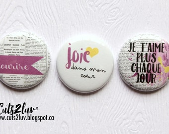 "3 badges 1 ""joy in my heart"