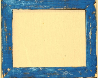 """1-1/2"""" OKC Blue Distressed Picture Frame"""