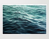 Dark Waters 3 - Photograph Print, Turquoise Blue Green Ocean Water Wall Art Photography Beach Coastal Style Hanging. 8x10 11x14 16x20 20x30