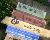 You are fearfully & wonderfully made sign