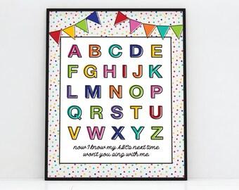 "ABC Poster - Printable - 11""x14"" and 8""x10"""