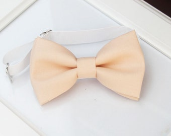 Light Peach bow-tie - Adjustable neck-strap - Ice Peach bow tie - baby bow tie - boy bow tie - kids bow tie