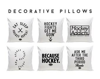 Hockey Decorative Pillows