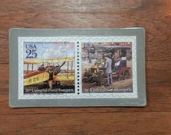 1988  Commemorative Puzzle Series Postcard, Set of 4, Vintage