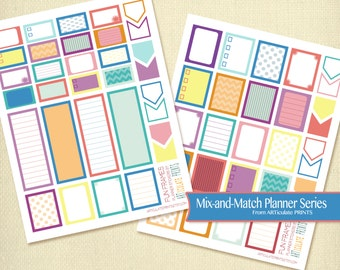 printable planner stickers planner squares checklist planner stickers ...