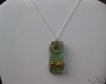 Green Glass Bar necklace