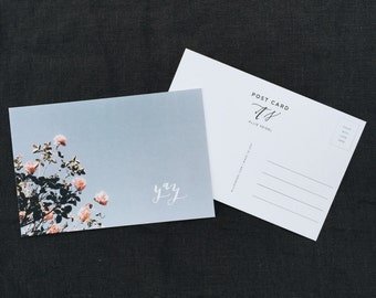 Calligraphy Post Card | Yay on Flowers | Pack of 5 | 100% Recycled