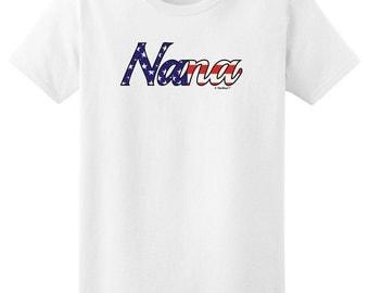 Nana Stars and Stripes Patriotic Ladies T-Shirt 2000L- FB-290