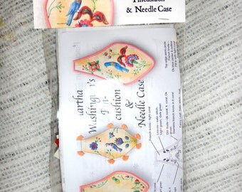 Martha Washington's Needle case and Pin cushion Embroidery Kit