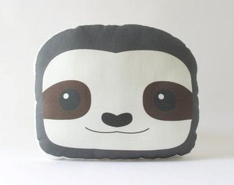 Sloth Pillow Plush - Stuffed Sloth Face Cushion