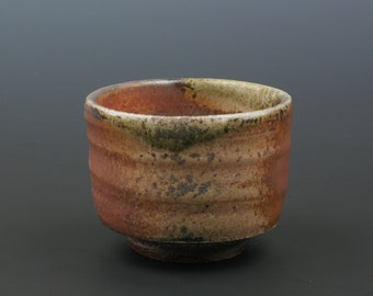 Wood fired Whiskey Sipper with Shino and Natural Ash Glaze #7