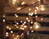 10.8 Feet Globe Lights String Lights Cafe String Lights Outdoor Lighting Patio Wedding Christmas Hanging Lights Warm Romantic Plug Bulb