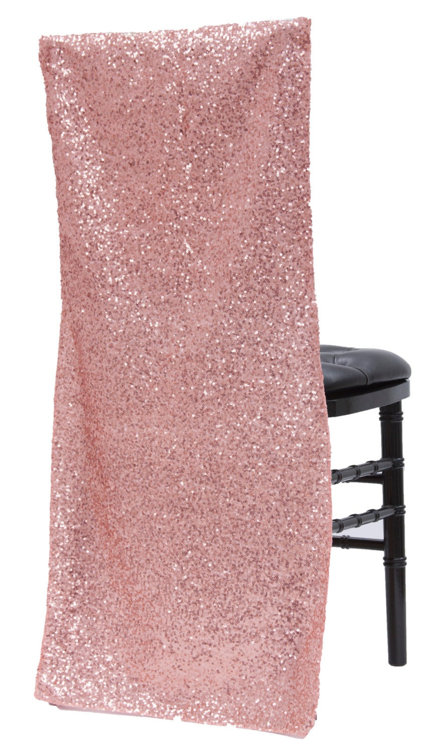 Bulk 100 Sparkly Rose Gold Chair Covers Full By Sparklesoiree