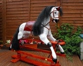 "Traditional wooden ""Victorian Style"" Rocking Horse"