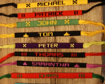 Personalized bracelet any name numbers colours inscription hen party macrame friendship cotton cord twist birthday gift