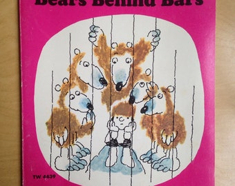 Herman And The Bears Behind Bars by Bernice Myers Vintage Childrens Book Scholastic 1970s