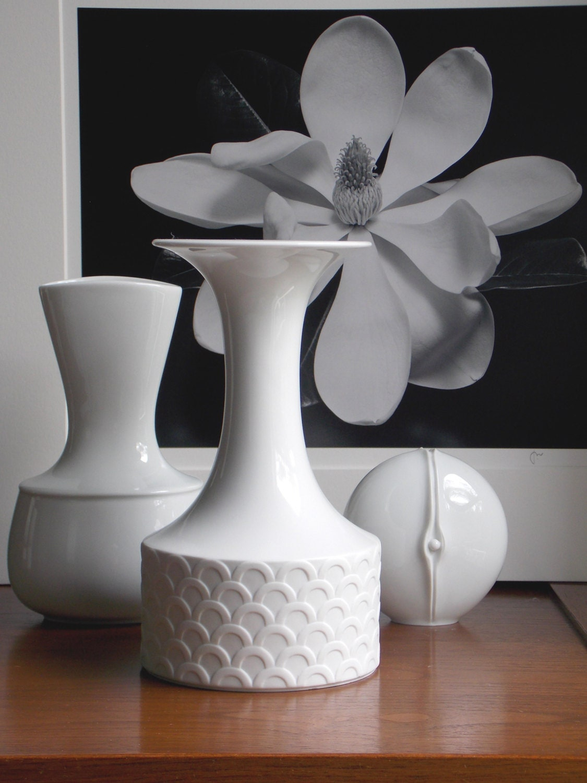 Matte White Vase Porcelain Vase Modern by MidCenturyFLA