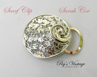 Vintage Sarah Coventry Silver Tone Filigree Scarf Clip//Slide, Costume Jewelry, Jewellery