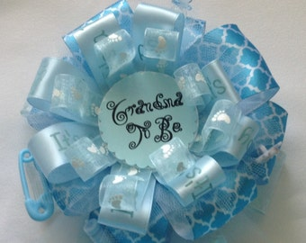 Baby Blue Grandma To Be Corsage - Grandma To Be Badge - Baby Shower Grandma To Be Corsage - Baby Boy Shower Corsage ***FREE SHIPPING***