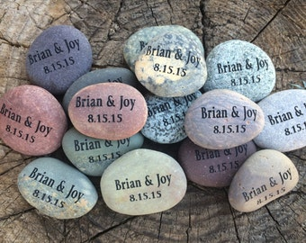 Engraved Stones, Wedding favors,Party Favors, Pocket Stones