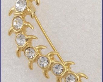 ON SALE Vintage Lia Gold Tone Centipede Caterpillar Brooch