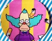 "Krusty the clown round stickers 3""x 3"" inces"