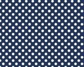 Riley Blake- Small Dots NAVY