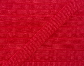 3/8 RED Fold Over Elastic 5 or 10 Yards