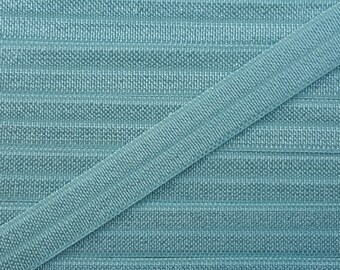 3/8 NILE BLUE Fold Over Elastic 5 or 10 Yards