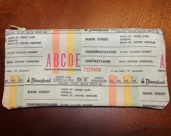 ONLY 3 LEFT!! Disneyland Ticket Book Zipper Pouch