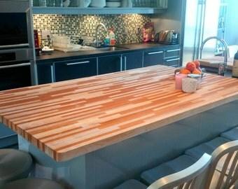 custom butcher block / cutting board countertops