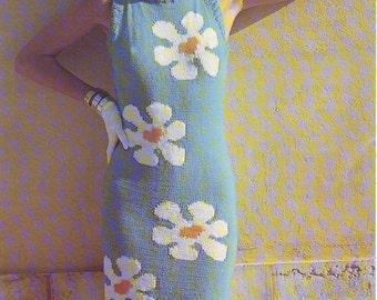 Daisy Sleeveless Dress Knitting Pattern