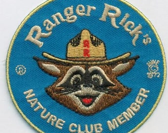 Ranger Rick's Nature club embroidered patch