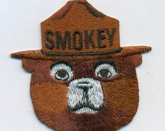 Smokey the Bear patch, 2.5 inches high, excellent detail for the collector.