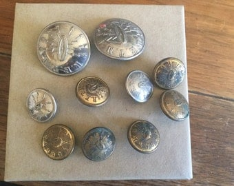 Vintage Dutch Military Buttons From WWII