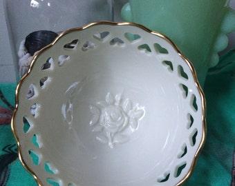 Lenox 24K Gold Trim Heart Lined Bowl