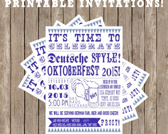 Custom Western Retro Oktoberfest Invitation Printable