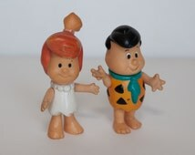 Vintage Flintstone Kid Coleco -- Fred and Wilma --  1986