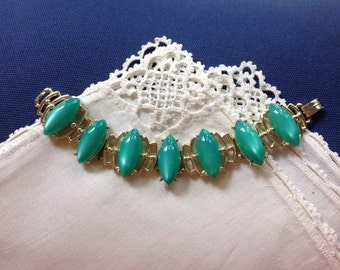 Faux Turquoise Bracelet, Thermoset, December Birthstone