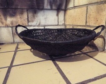 Vintage Black Basket , Country, Primitive