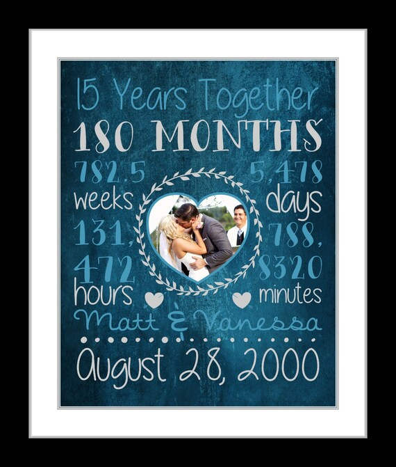Anniversary Gifts For Husband: Any Or 15th Anniversary Gift For Husband Wife Boyfriend