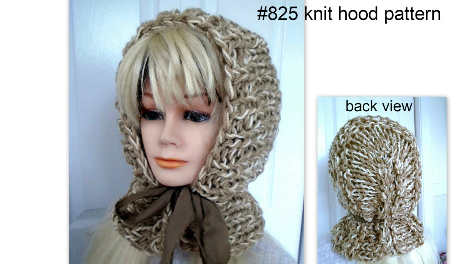 Knitting Pattern For Ladies Hood : HOOD KNITTING PATTERN Women and girls Easy beginner level