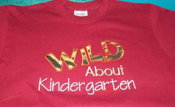Grade school embroidered t-shirt - kindergarten shirt