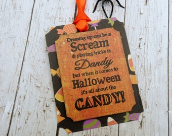Halloween Tags, Candy tags, Treat tags, Halloween Food, Favor tags