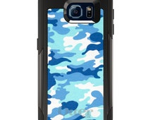 OtterBox Commuter for Galaxy S3 / S4 / S5 / S6 / Note 4 - CUSTOM Monogram - Any Colors - Blue White Camouflage
