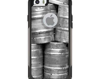 OtterBox Commuter for Apple iPhone 5S SE 5C 6 6S 7 8 PLUS X 10 - Custom Monogram - Any Colors - Beer Kegs