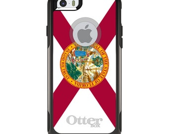 OtterBox Commuter for Apple iPhone 5S SE 5C 6 6S 7 8 PLUS X 10 - Custom Monogram - Any Colors - Florida State Flag