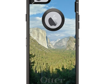 CUSTOM OtterBox Defender Case for Apple iPhone 6 6S 7 8 PLUS X 10 - Personalized Monogram - Yosemite Tunnel View