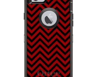 Custom OtterBox Defender Case for Apple iPhone 6 6S 7 8 PLUS X 10 - Monogram - South Carolina USC Gamecocks Colors-Chevron Pattern